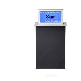 Custom configuration HD 10inch electronic table name card automatic motorized Lcd Tv Lift for Paperless Conference System