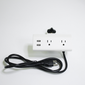 New design clamp on conference tableop power hub socket with dual usb