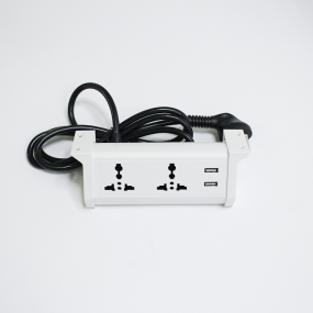 UL approved office table power outlet hanging desk socket with usb