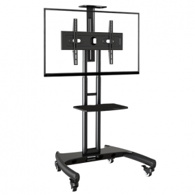 high bearing double column audio-visual mobile lcd tv trolley cart